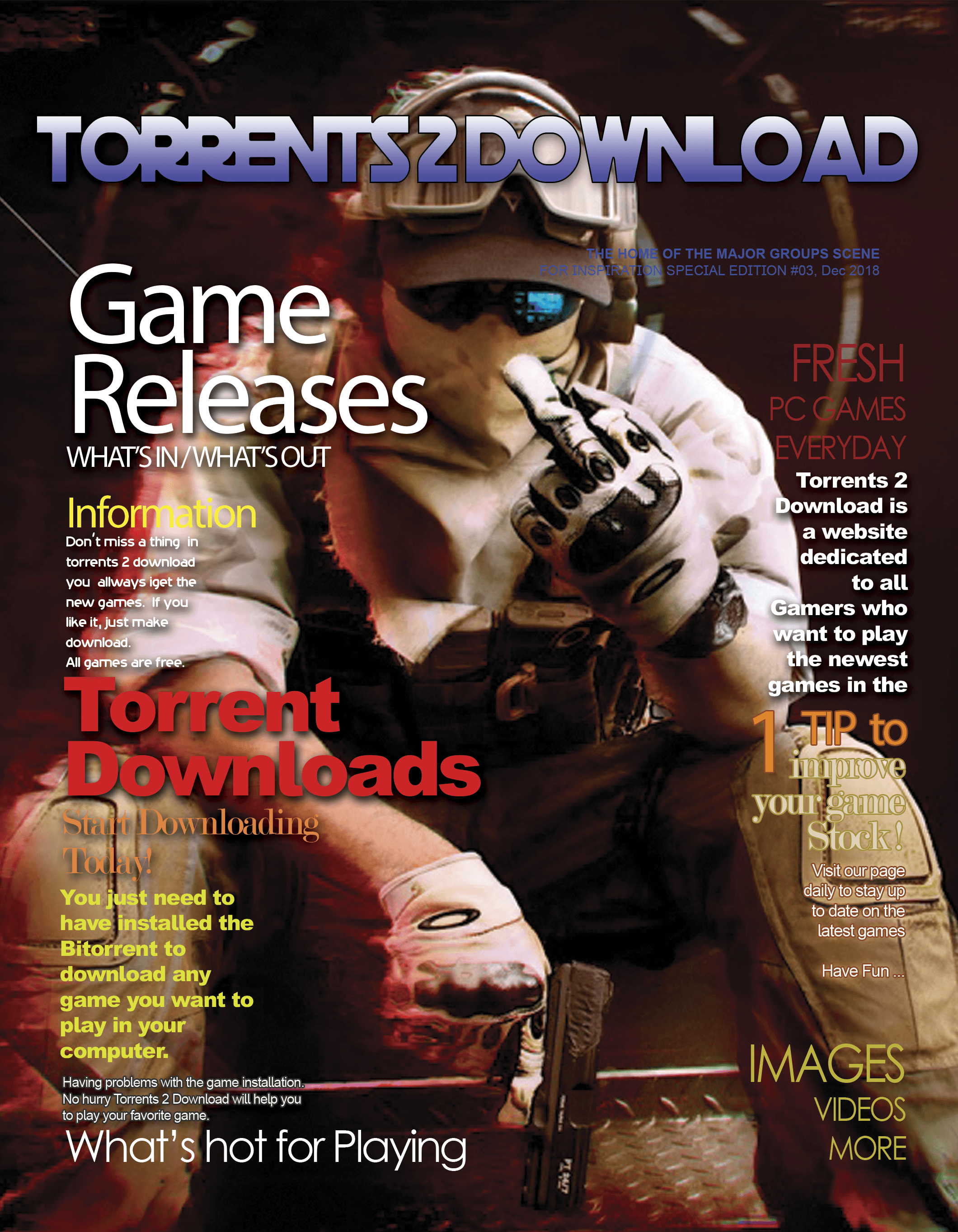 torrent2download Magazine Cover 000 Aug 2018 Template