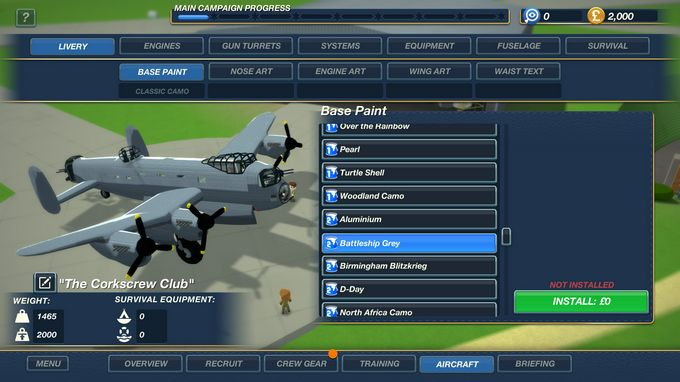 Bomber Crew USAAF Skin Pack 2 and 3 DLC-PLAZA